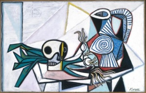 pablo_picasso_still_life_with_skull_leeks_and_pitcher