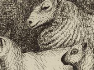 henry  Moore sheep 1972 2